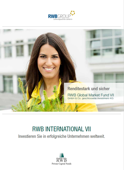 Titelbild der International VII (RWB Global Market Fund VII) Produktbroschüre