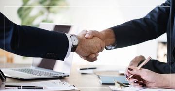 Handschlag Geschäftspartner
