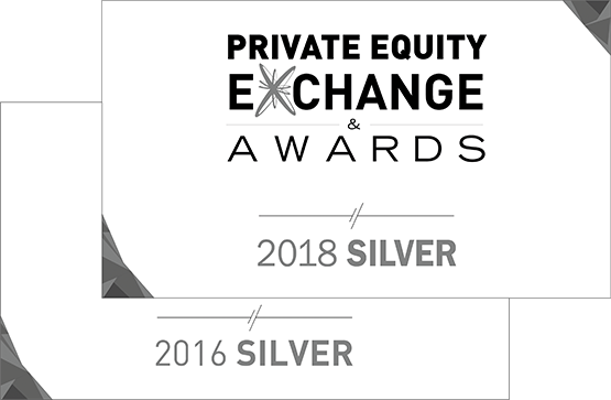 Private Equity Exchange Awards 2016 und 2018 Silver